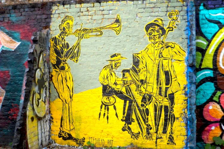 Brick Lane Jazz graffiti London