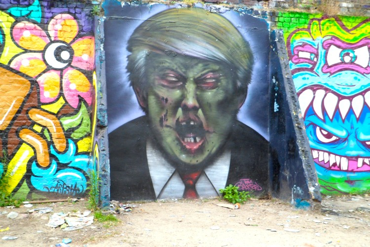 Donald Trump Graffiti Street Art Brick Lane London