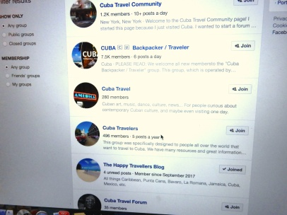 Facebook Travel Groups
