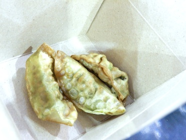 Vegetable spring rolls - they were very green!