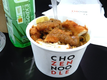 Katsu chicken with noodles and curry sauce - so good!