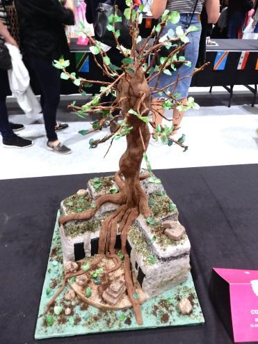 The Cake and Bake Show London art tree DSCN8070